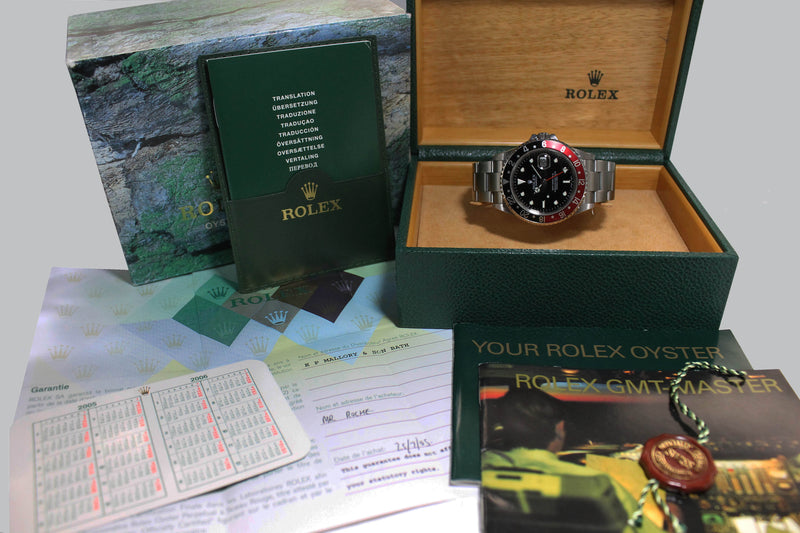 2004 Rolex GMT Master II Coke Unpolished Ref. 16710T (Full Set)
