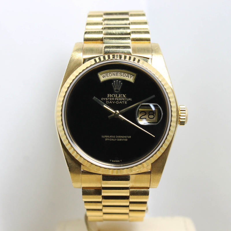 Rolex Day Date Onyx Ref. 18038 Year 1984 (with Box & Papers)
