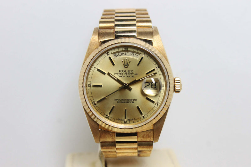1988 Rolex Day Date NOS Ref. 18038 (Full Set)
