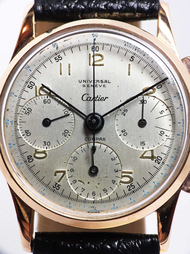 Universal Geneve Compax 'Cartier' Ref. 12494 Year 1950 (with Extract from Archives)