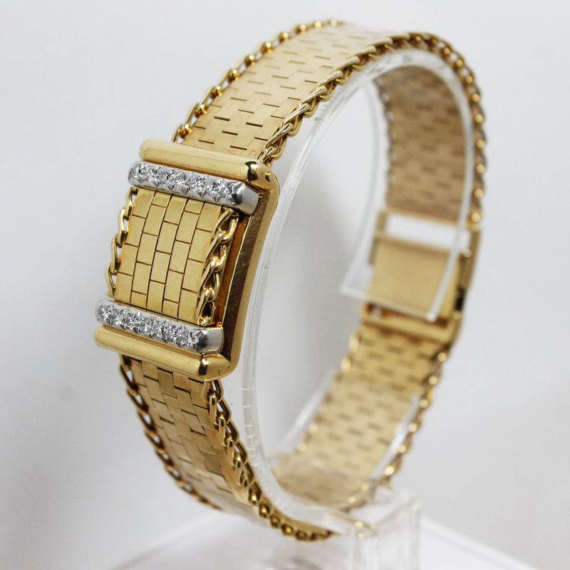 1956 Rolex Ladies 18K Concealed Diamond Watch