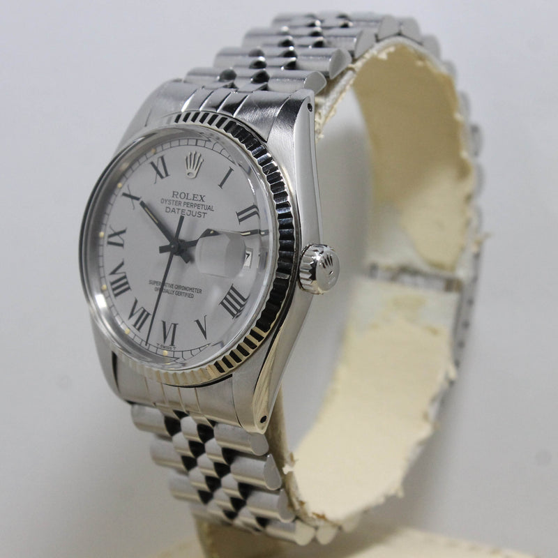 1977 Rolex Datejust Light Grey Buckley Dial Ref. 16014