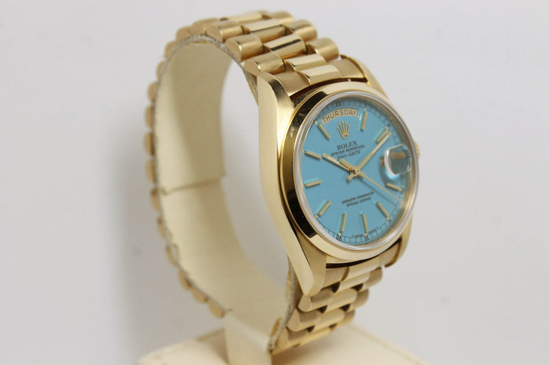 1978 Rolex Day Date Stella Turquoise Ref. 18028 (Full Set)