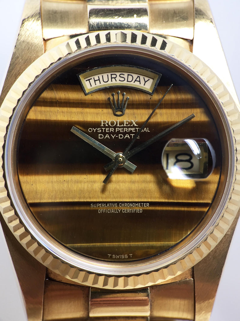 1980 Rolex Day Date Tiger's Eye Ref. 18038 (with Papers)