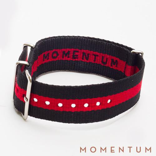 Nato Strap Black & Red Single Striped - Momentum Dubai