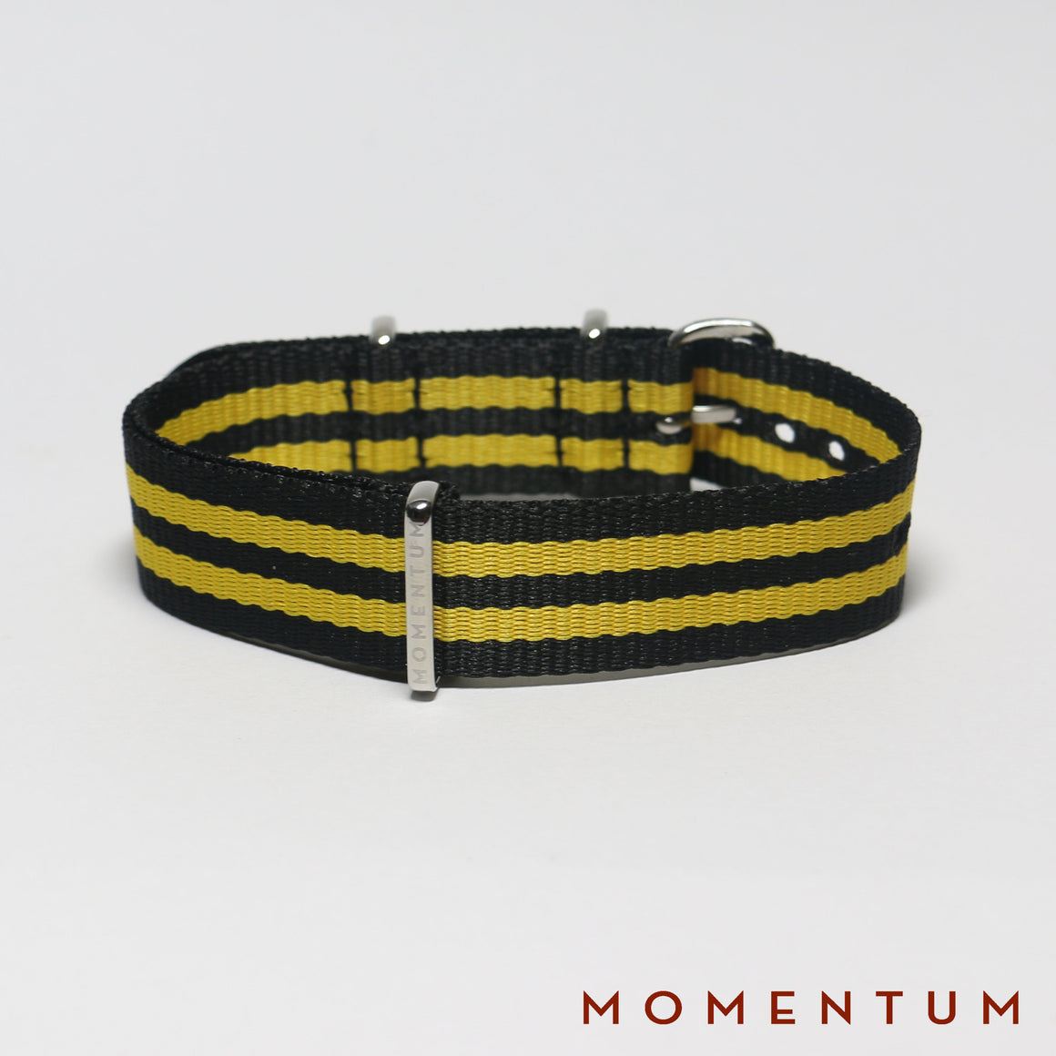 Nato Strap Black & Yellow Double Striped - Momentum Dubai
