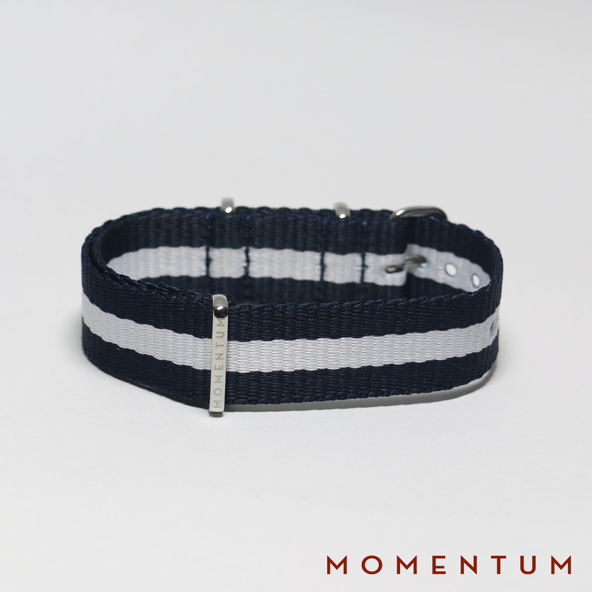 Nato Strap Navy Blue & White Striped - Momentum Dubai