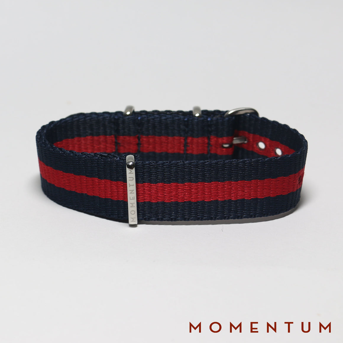Nato Strap Navy Blue & Red Striped - Momentum Dubai