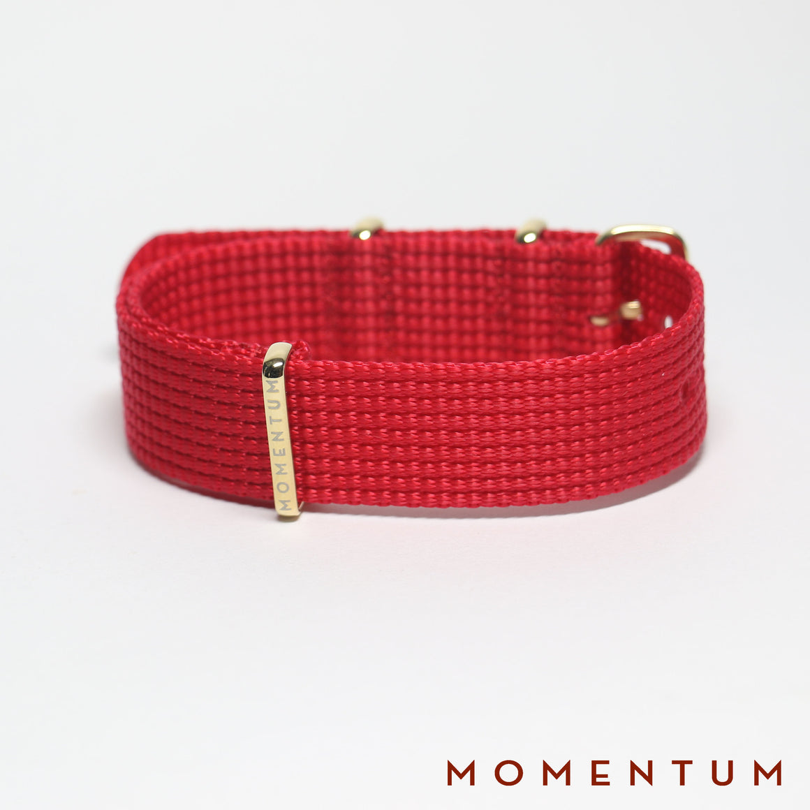 Nato Strap Red - Braided - Momentum Dubai