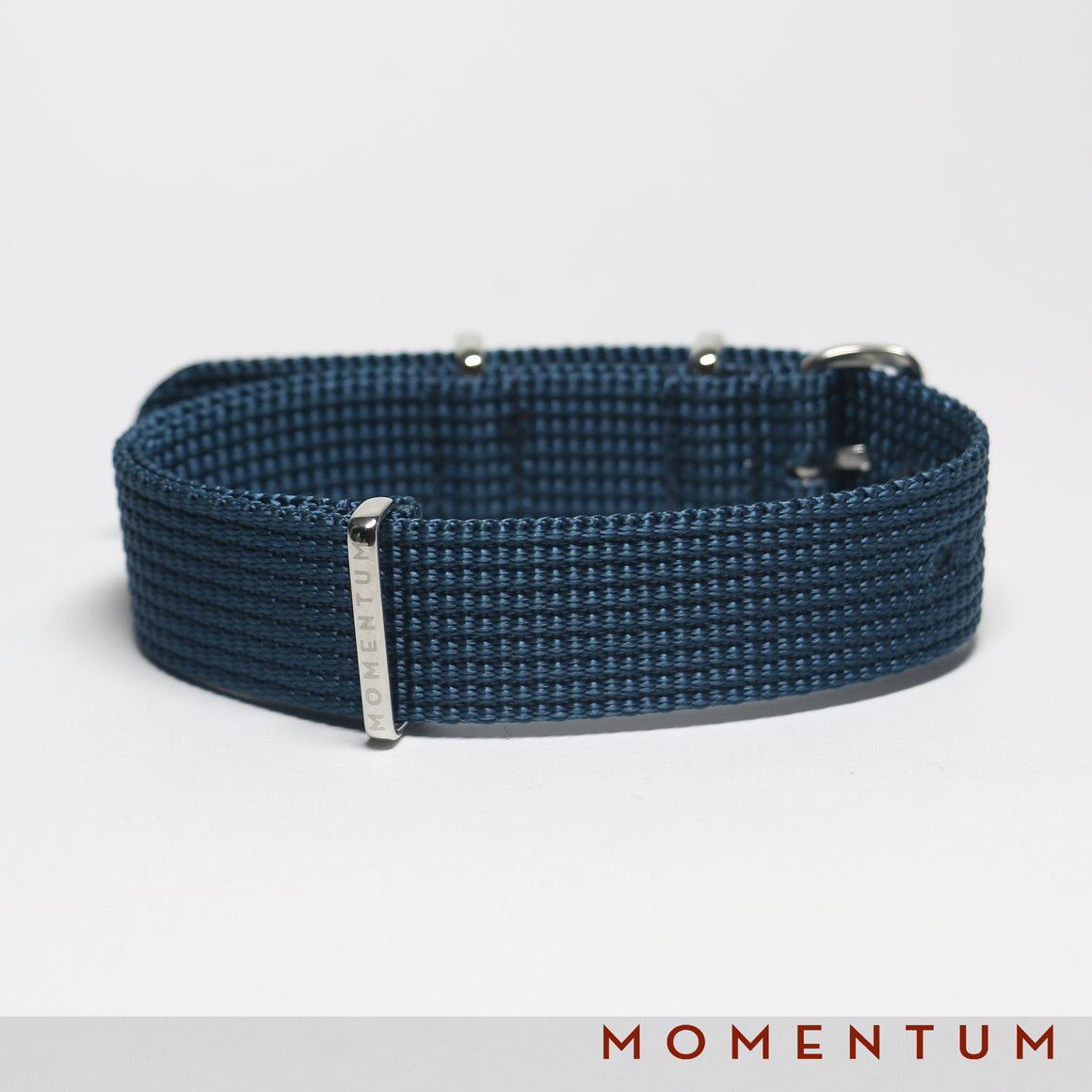 Nato Strap Dark Blue - Braided - Momentum Dubai