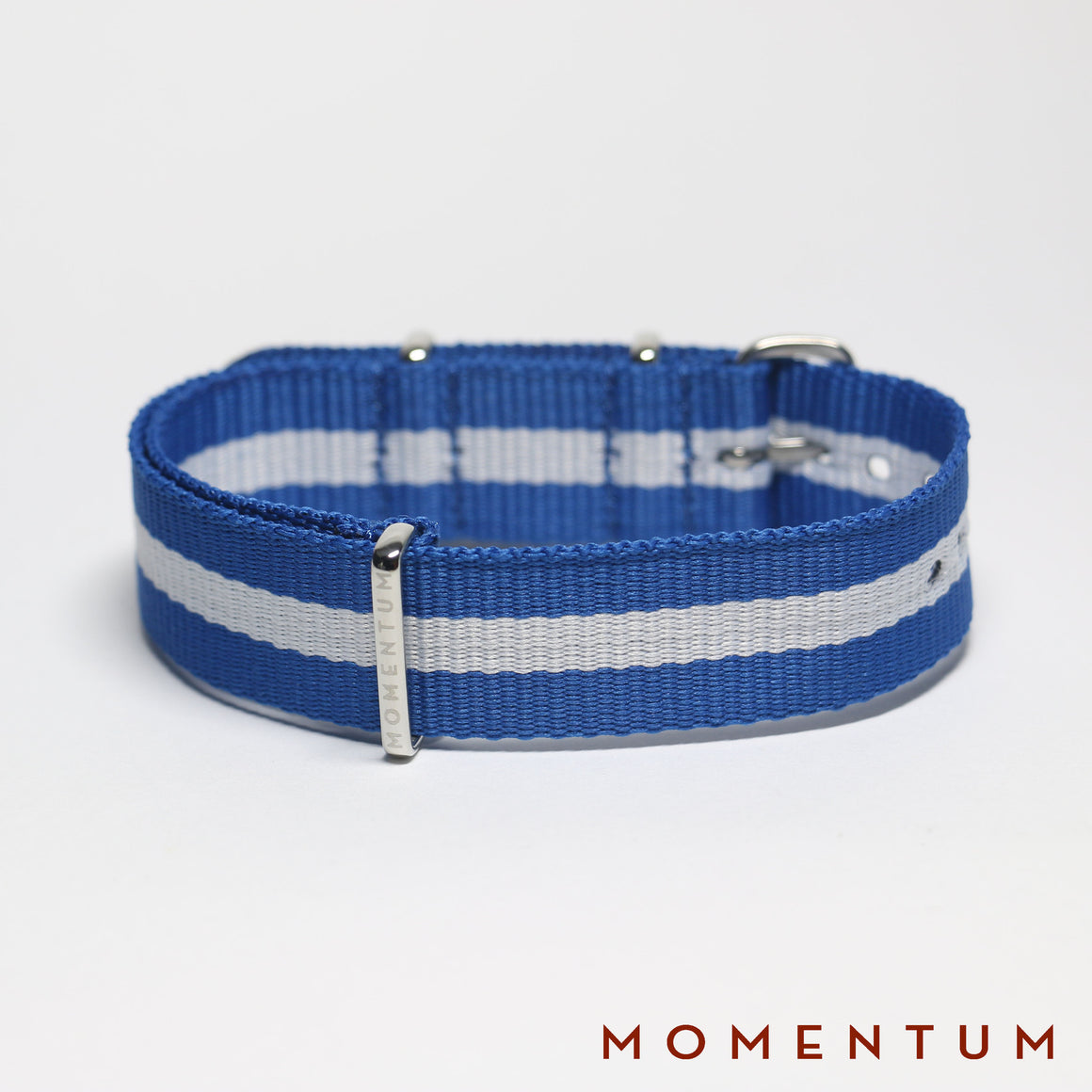Nato Strap Light Blue & White Striped - Momentum Dubai
