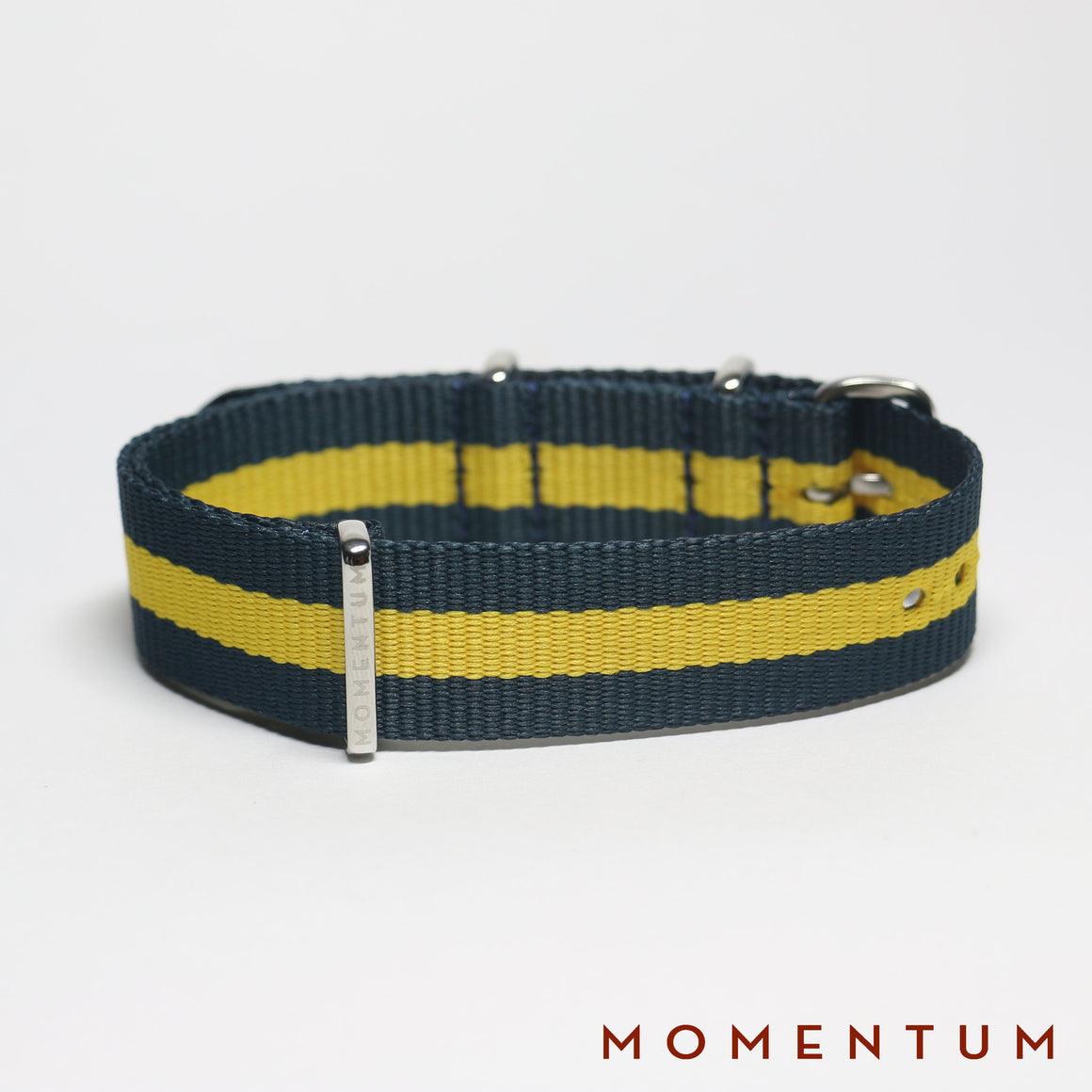 Nato Strap Dark Blue & Yellow Striped - Momentum Dubai