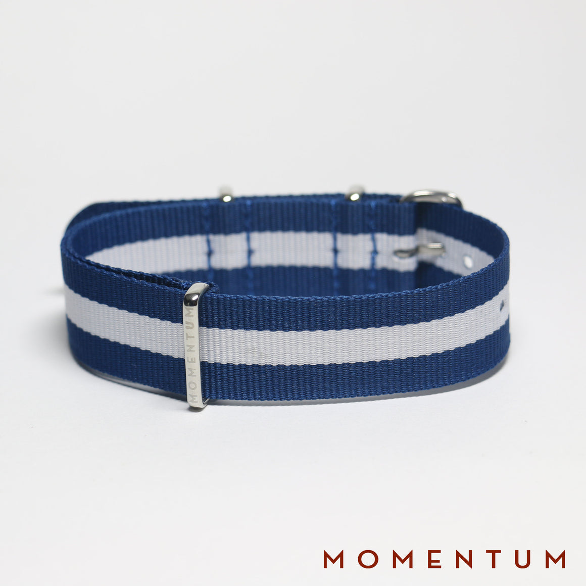 Nato Strap Blue & White Striped - Momentum Dubai