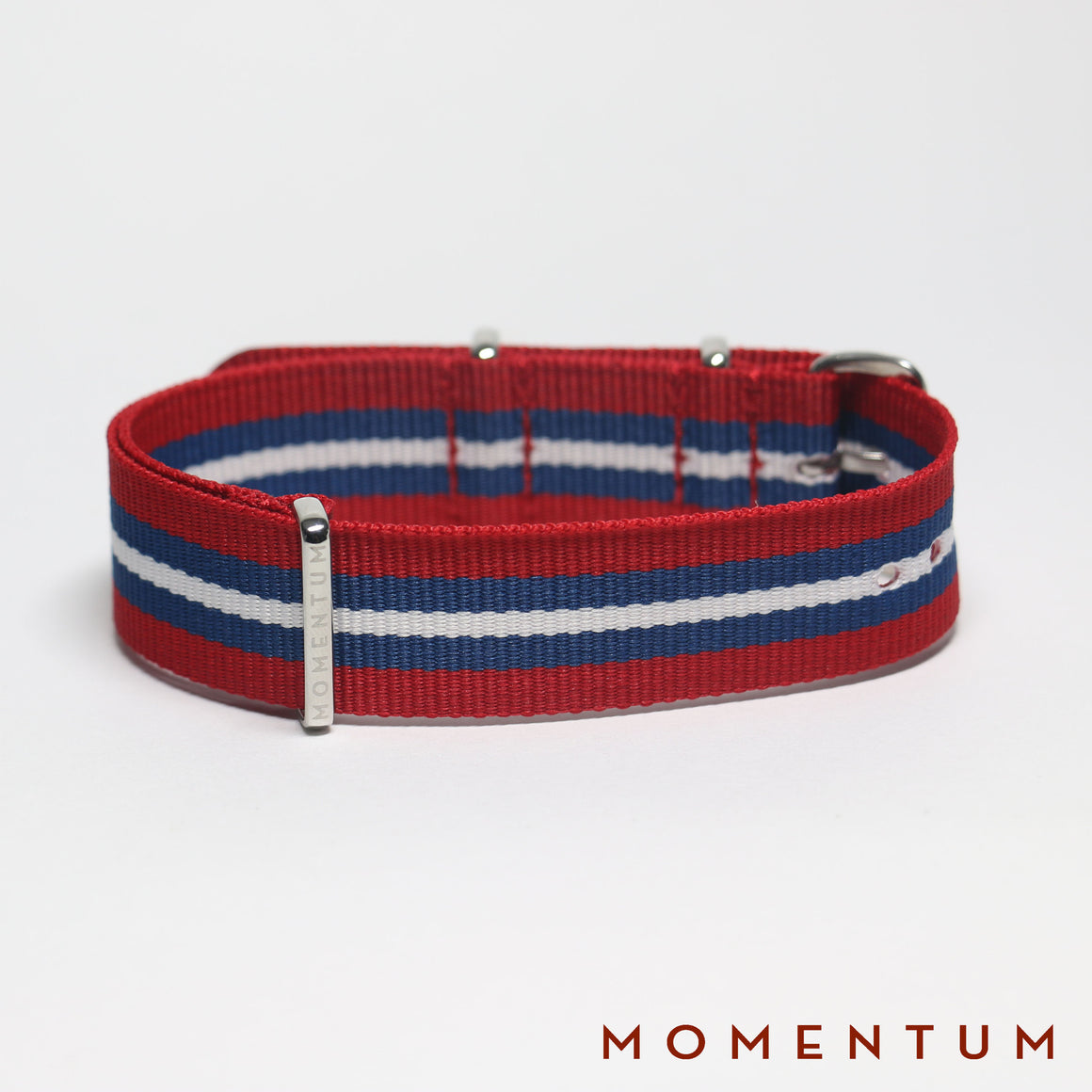 Nato Strap Red - Blue & White Striped - Momentum Dubai
