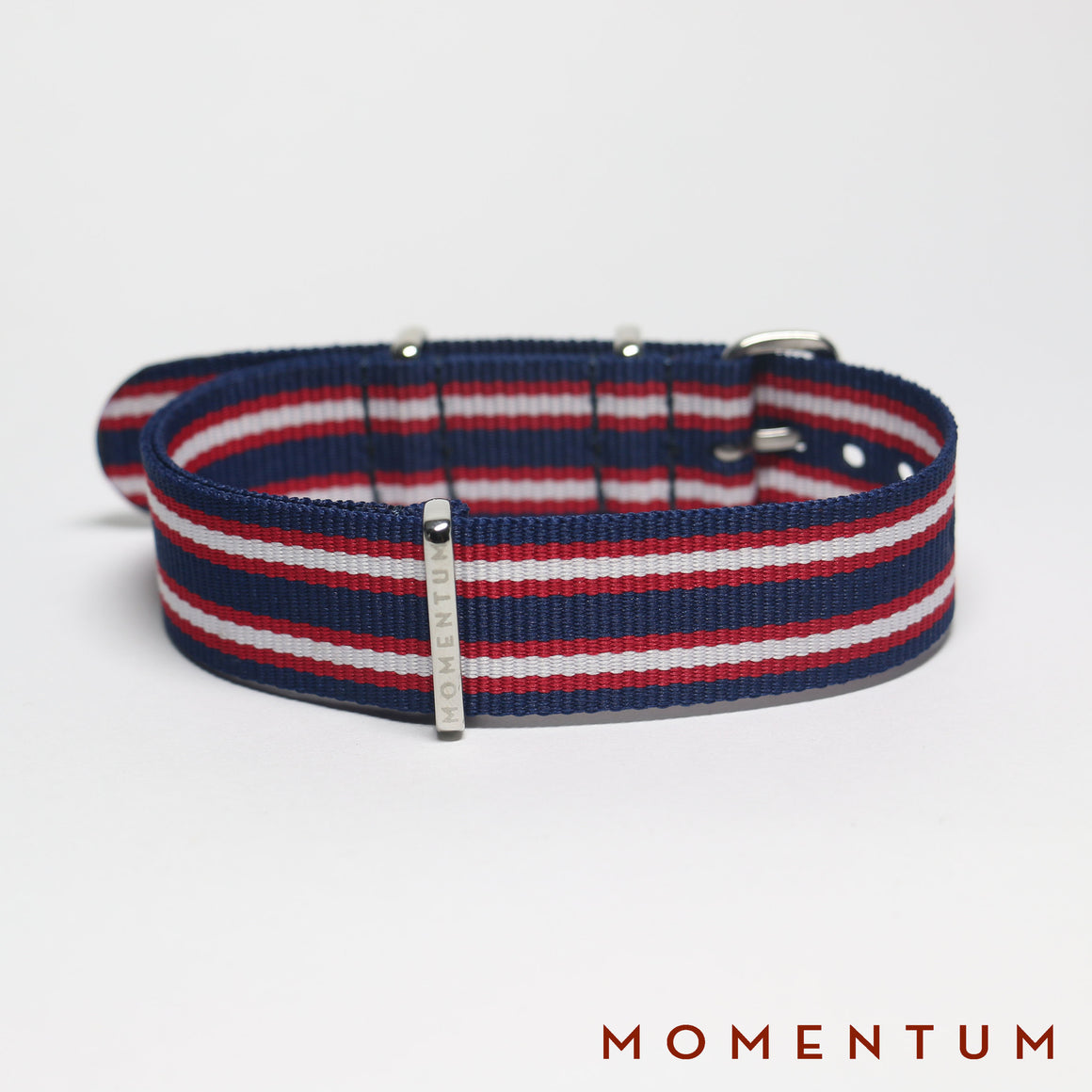 Nato Strap Blue - Red & White Striped - Momentum Dubai