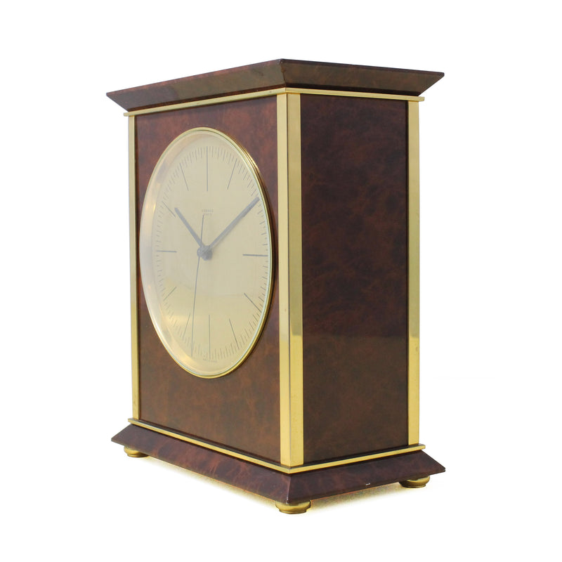 Hermes Lacquered Table Clock, 1960s