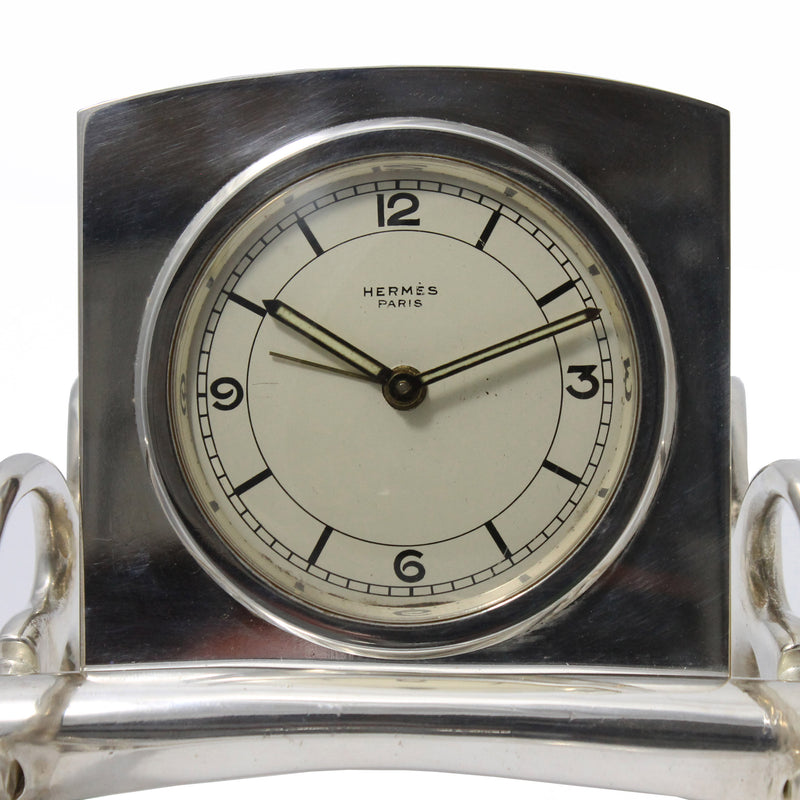 Vintage Hermes Carriage Desk Clock with Pen Rest, 1950s