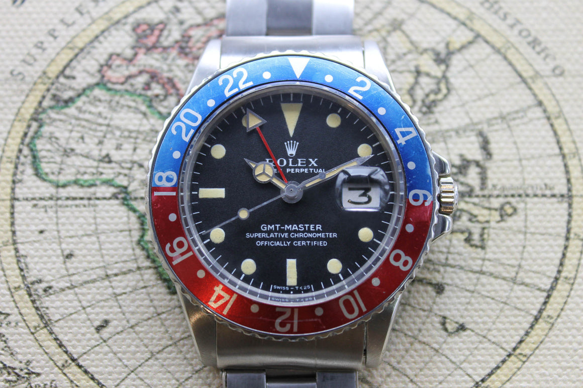 1971 - Rolex GMT Master (with Service Box & Papers) - Momentum Dubai