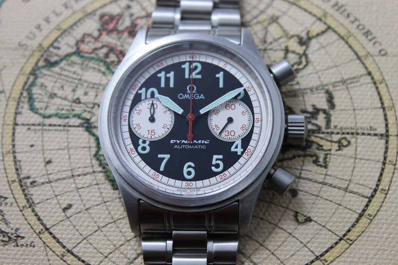 2000 - Omega Dynamic Chrono (Box and Papers) - Momentum Dubai