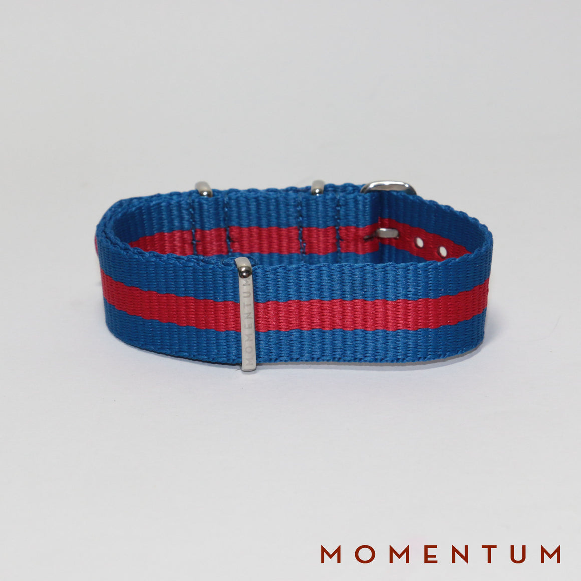 Nato Strap Blue & Red Striped - Momentum Dubai