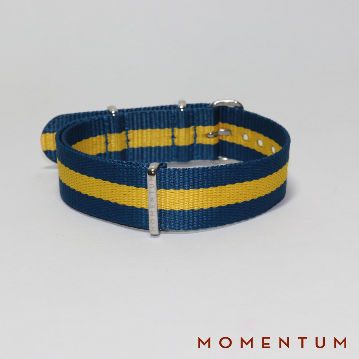 Nato Strap Blue & Yellow Striped - Momentum Dubai