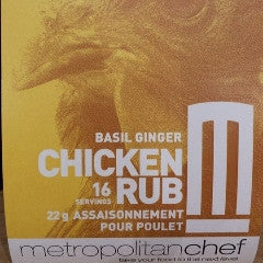Basil Ginger Chicken Rub-Metro Chef
