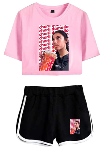 Charli D'Amelio Iced Coffee Tee + Short -1