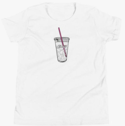 Charli D'amelio Iced Coffee Tee White - 1