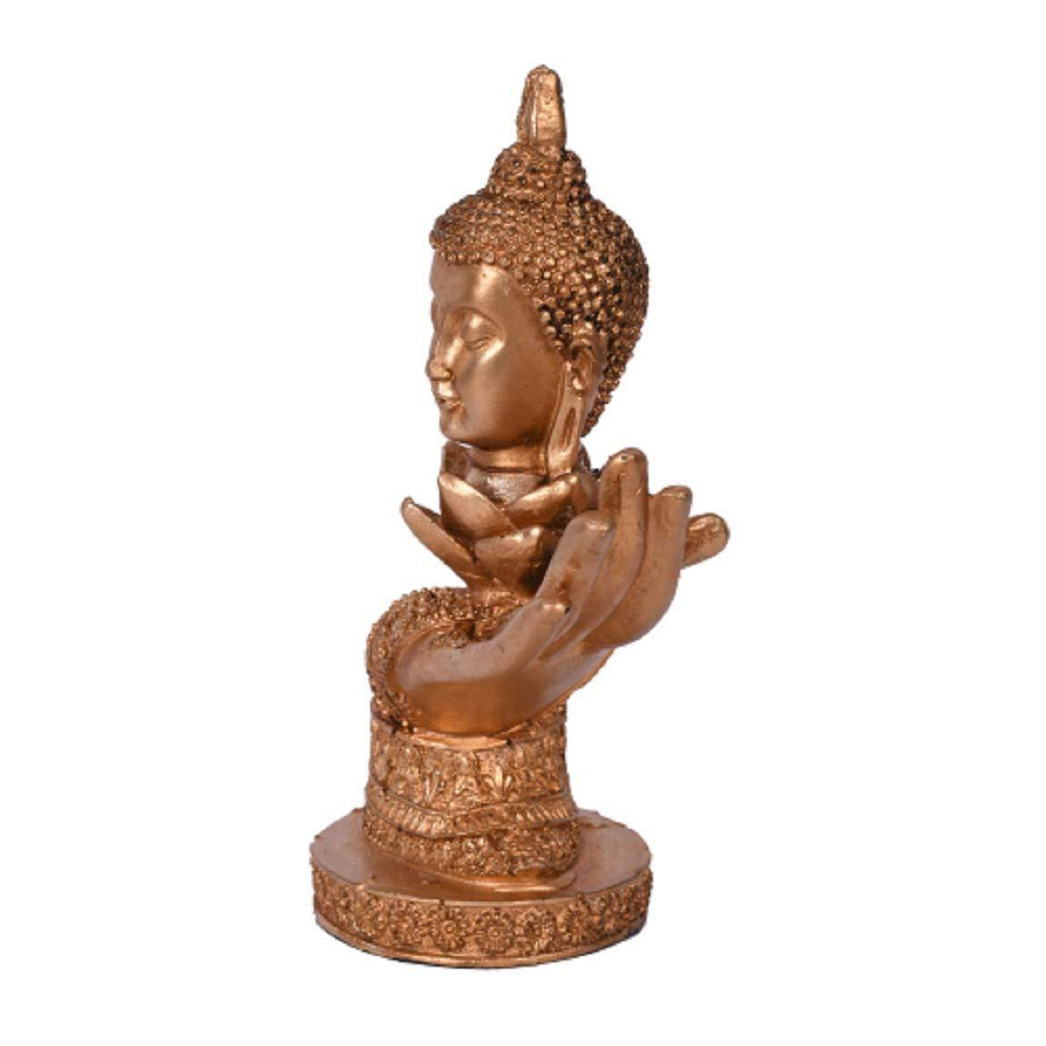 CraftEmporio Beautiful Head Buddha Statue Hold by Hand