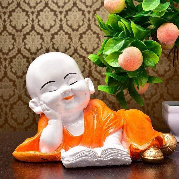 Craftemporio Laughing Baby Buddha Resine Showpiece