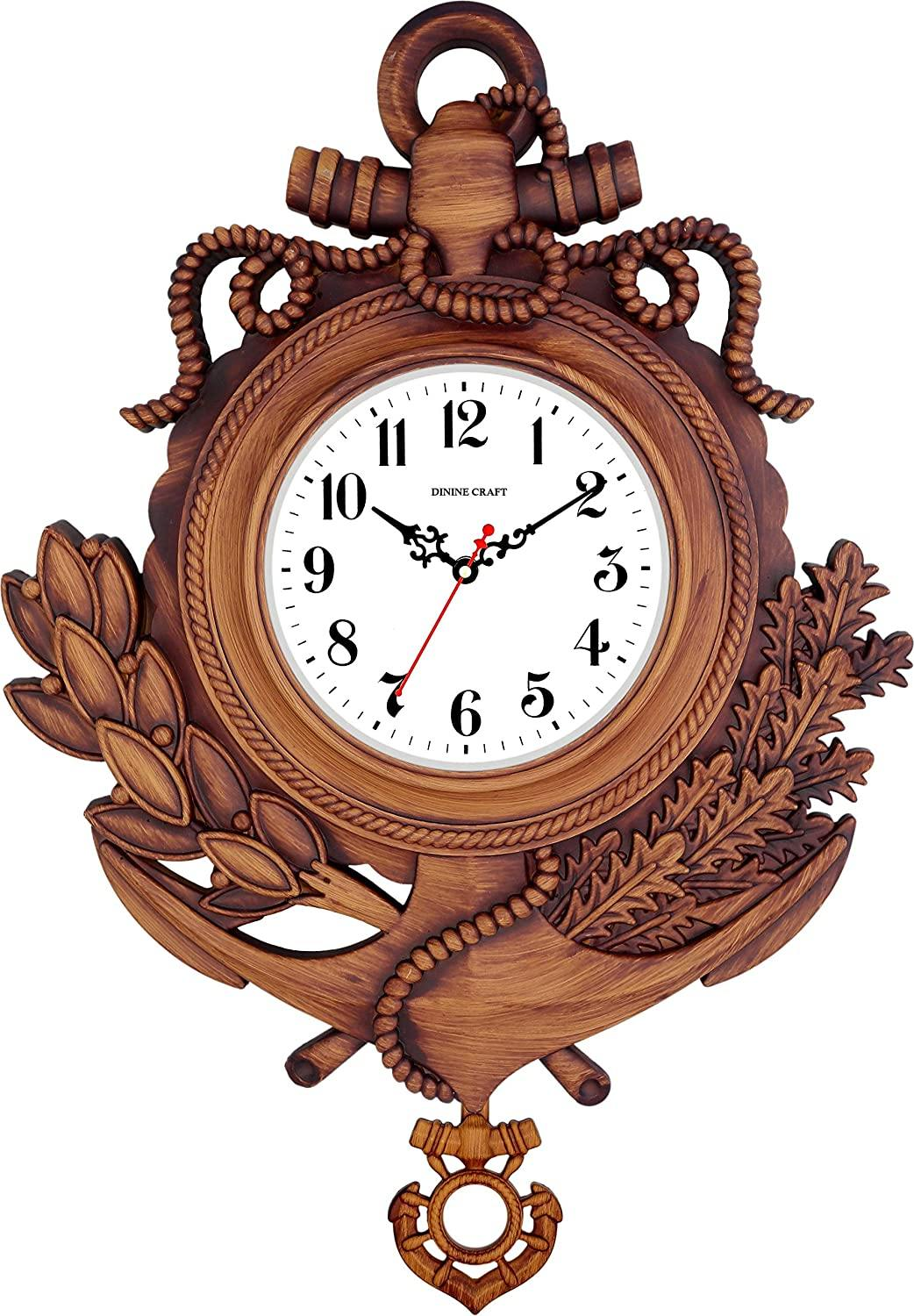 Craftemporio® Pendulam Wall Clock for Home