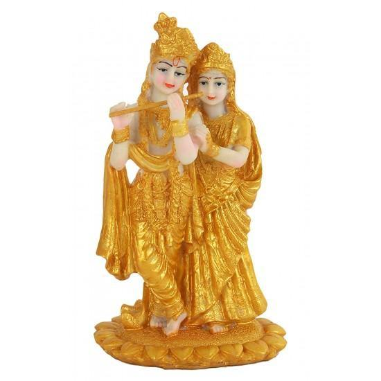 Gold Plated Radha Krishna Idol