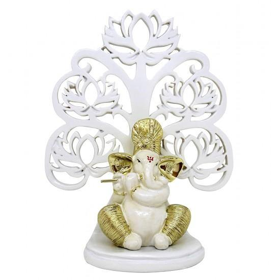 Gold plated ganesh idol