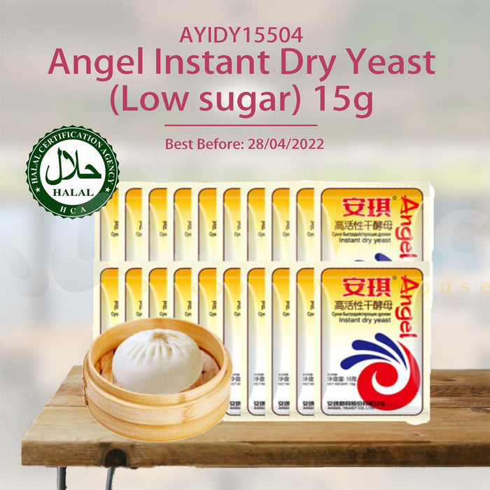 Angel Instant Dry Yeast (Low sugar) 15g