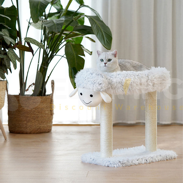 Sheep Shape Elvated Cat Tree & Bed