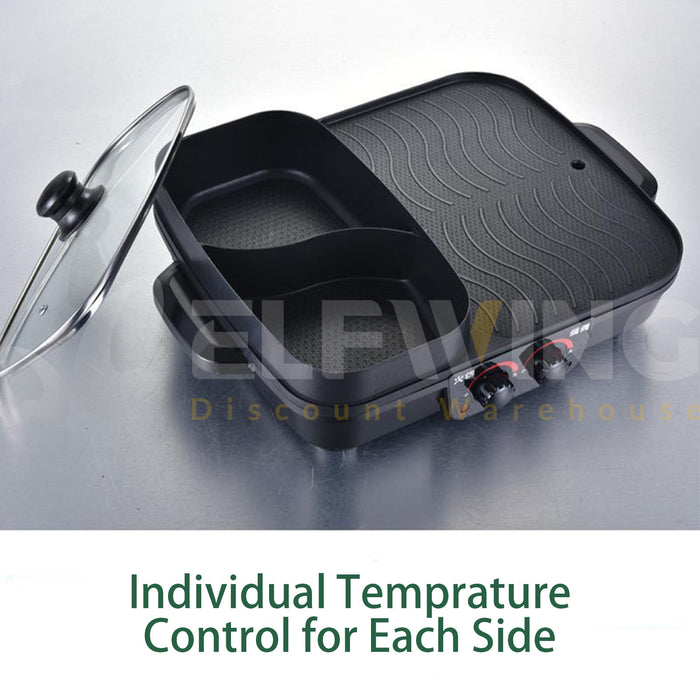 Medium 2 in 1 Electric Hot Pot & Barbecue
