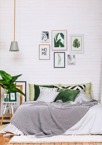 White and Emerald Bedroom