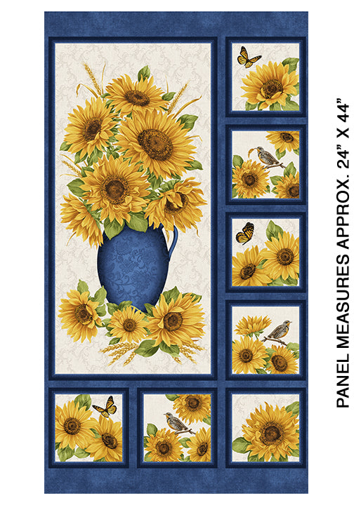Accent on Sunflowers -Sunflower Panel - from Benartex