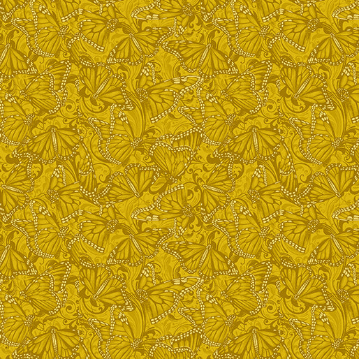 Accent on Sunflowers - Butterfly Fields Gold - from Benartex