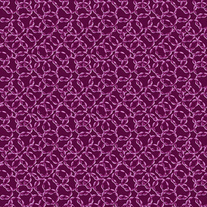 Interlocking Rings, Dark Magenta from Benartex