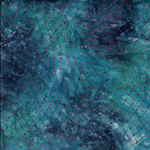 Murano Batik- Blue Stitch Design - from Blank Quilting