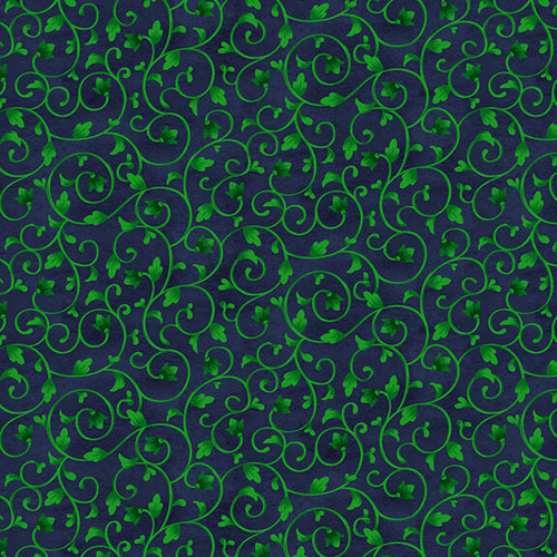 Luna Garden Navy Vine - from Blank Quilting