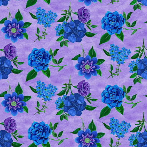 Luna Garden Light Purple Floral - from Blank Quilting