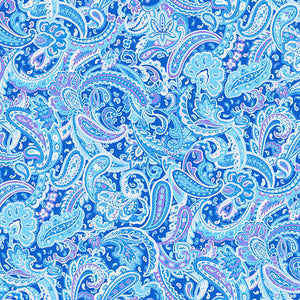 Luna Garden Light Blue Paisley - from Blank Quilting