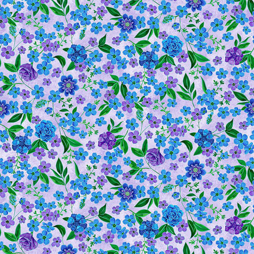 Luna Garden Light Purple Small Floral - from Blank Quilting