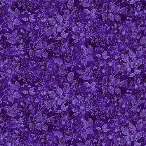 Luna Garden Purple Tonal Floral - from Blank Quilting