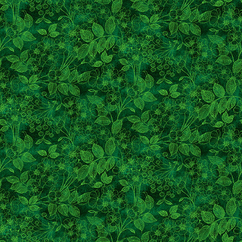 Luna Garden Green Tonal Floral - from Blank Quilting