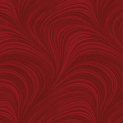 Wave Texture in Medium Red - from Benartex