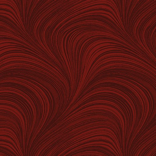 Wave Texture in Dark Red - from Benartex