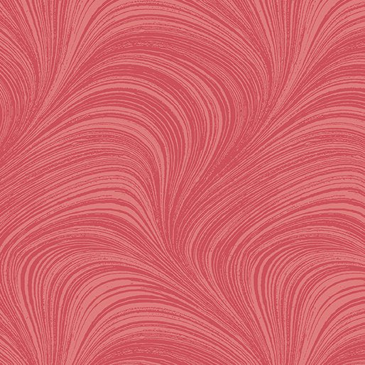 Wave Texture  in Raspberry - from Benartex